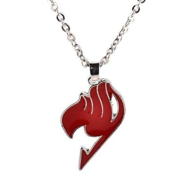 fairy tail red symbol necklace