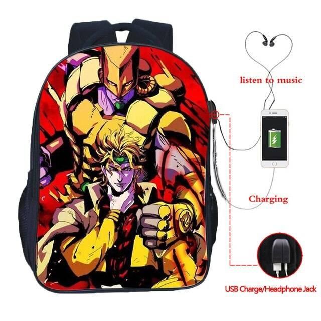 jojo's bizarre adventure backpacks for school