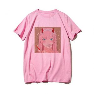 t-shirt zero two Pink color