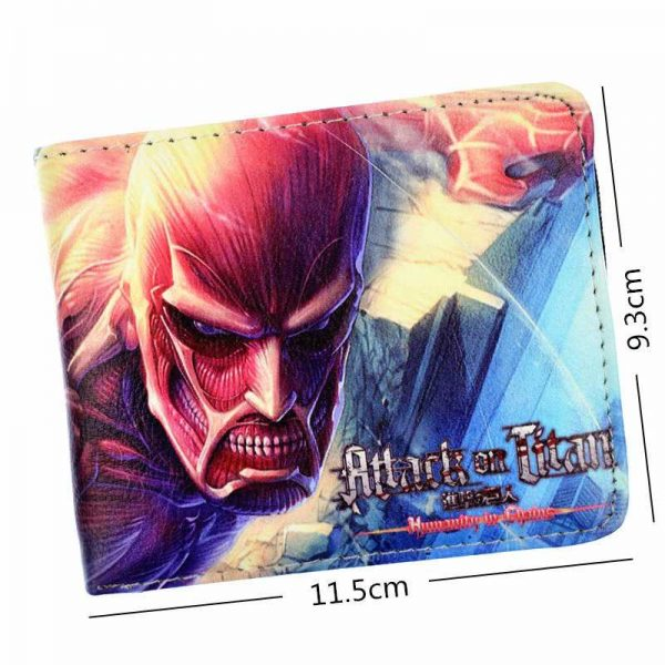 attack on titan wallet leather