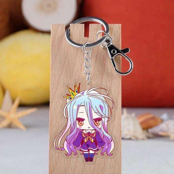 no game no life shiro keychain