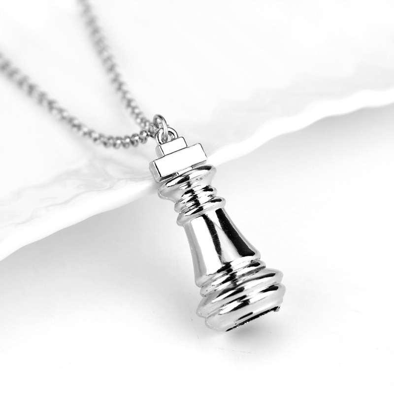 no game no life zero white silver necklace