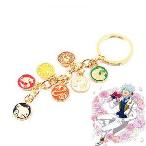 seven deadly sins anime keychain