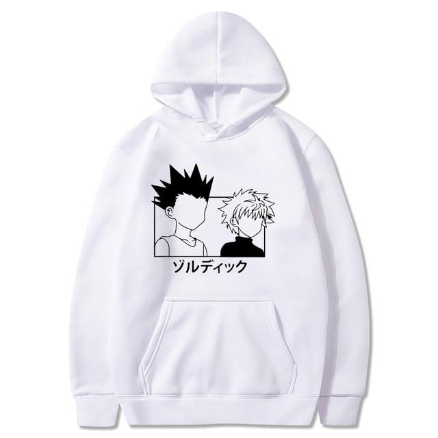 gon & killua (white) hoodie