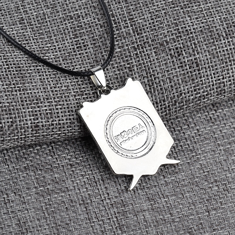 attack on titan wings of freedom silver necklace