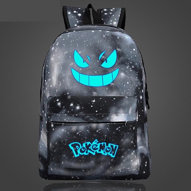 glow in the dark gengar backpack