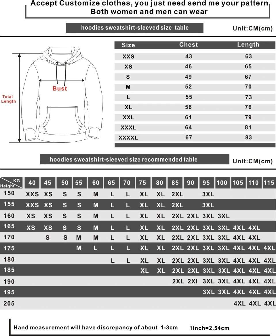hisoka hoodies size