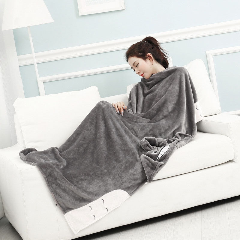 totoro baby blanket