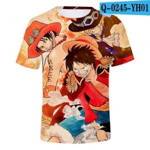 luffy ace shirt
