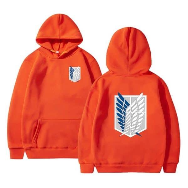 attack on titan orange hoodie