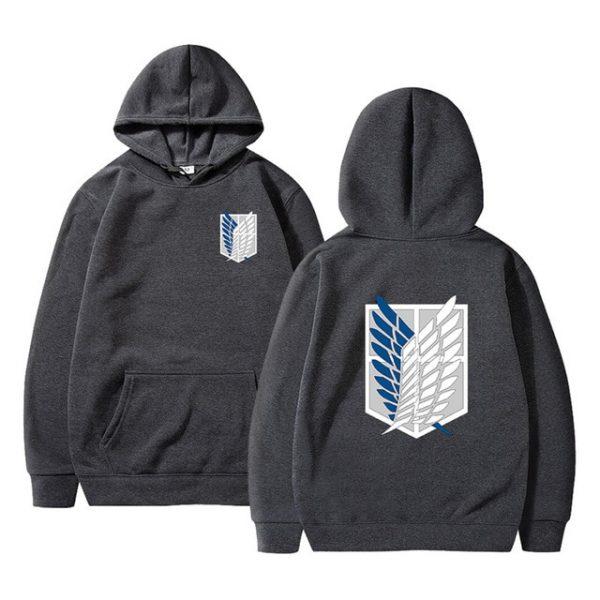 attack on titan hoodie black