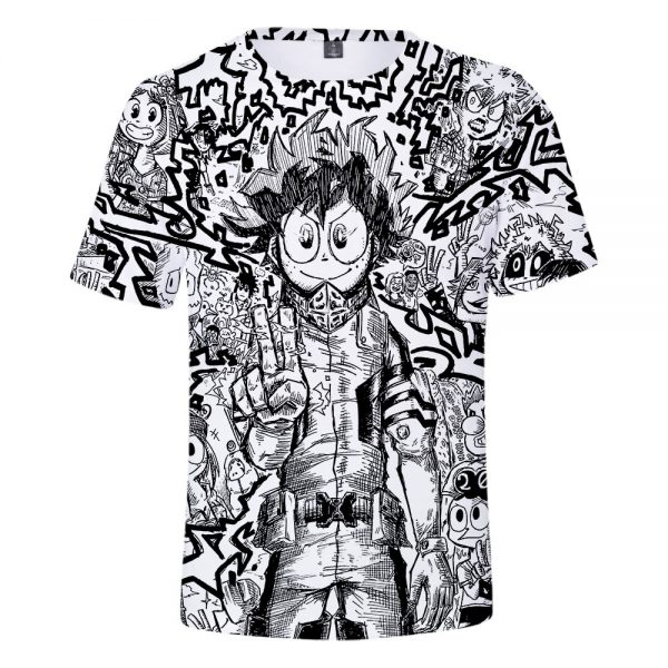 my hero academia 3D shirt