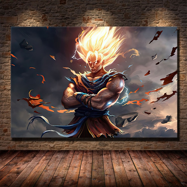 dragon ball z wall scroll