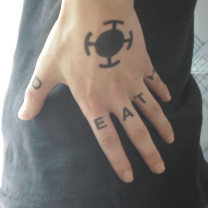 trafalgar law hand tattoo