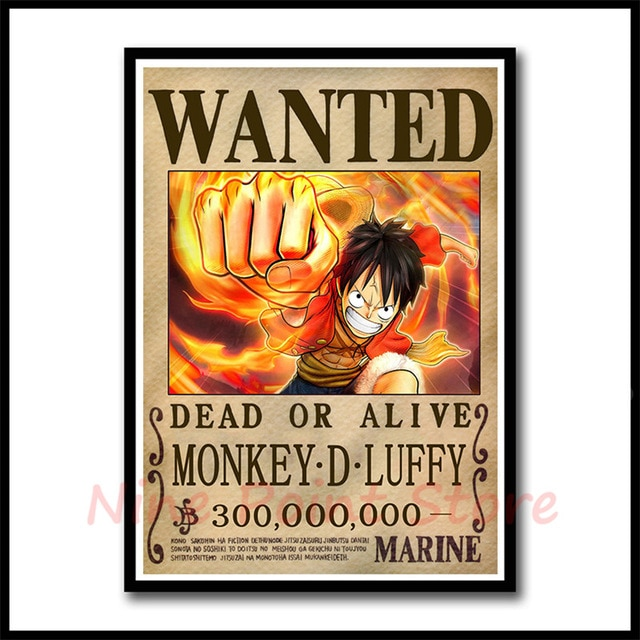 one piece luffy poster