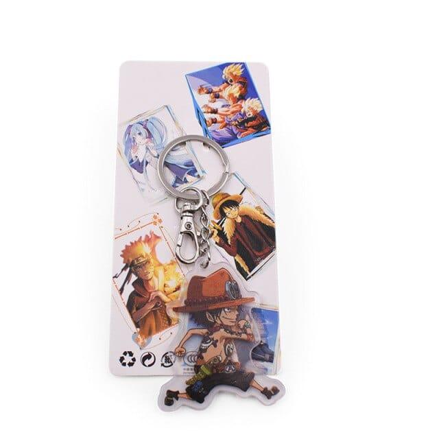 one piece ace keychain