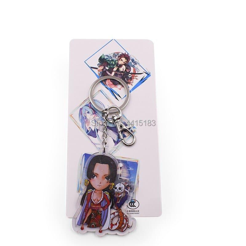 one piece anime keychain