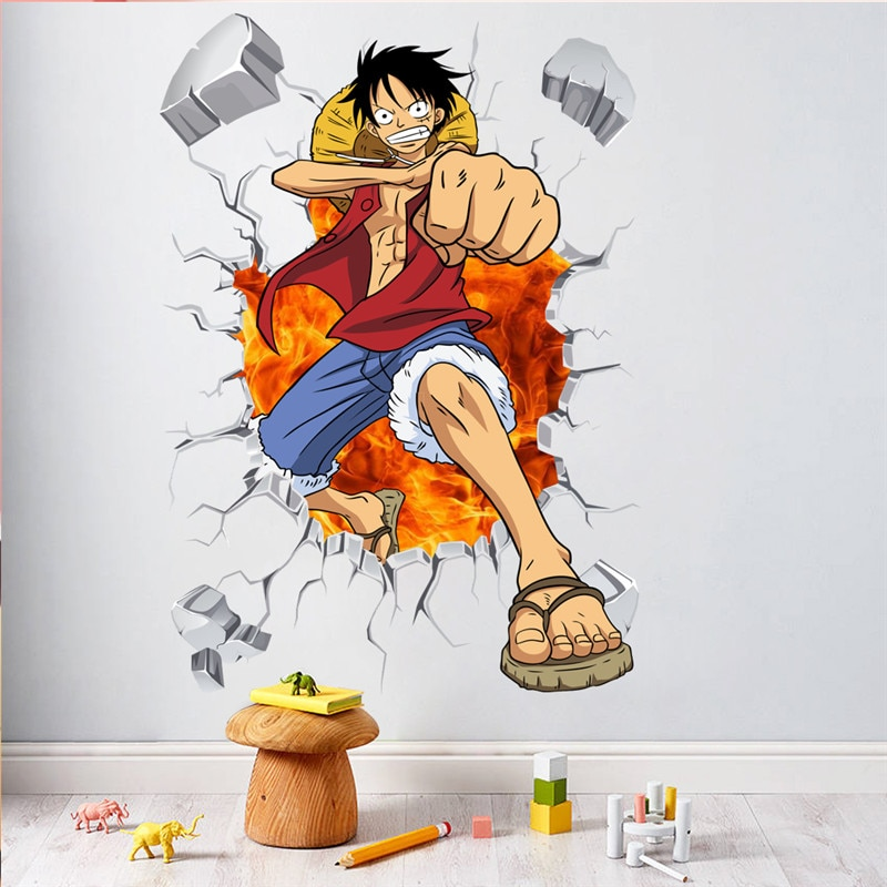 one piece anime wall decals