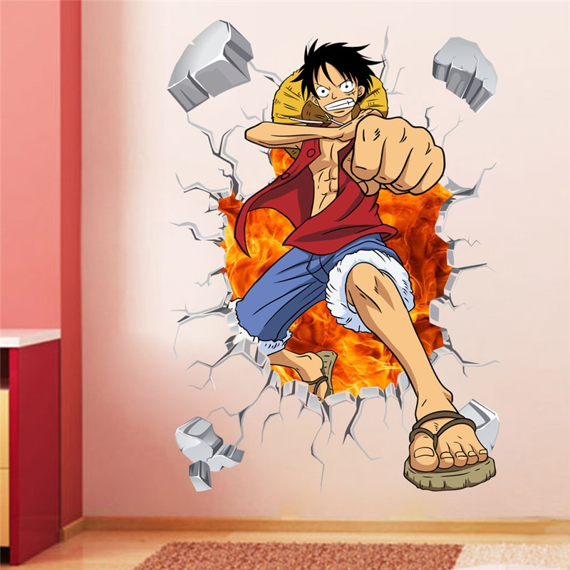 one piece wall decal