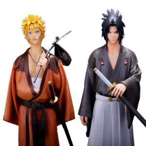naruto uzumaki and sasuke uchiha action figure