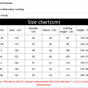 Cloak size