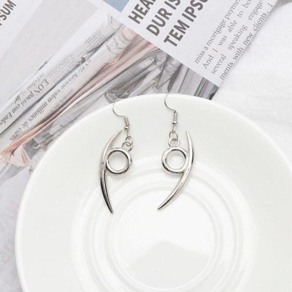 silver orochimaru earrings