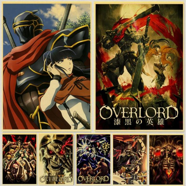 overlord wall scroll
