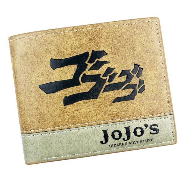 jojo's bizarre adventure leather wallet